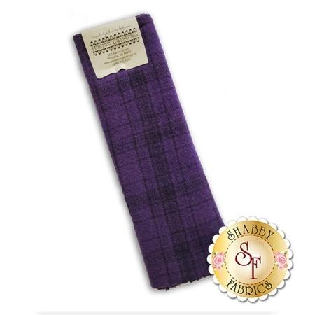 Hand Dyed Wool PRI 5055 Plum Plaid by Primitive Gatherings for Moda Fabrics