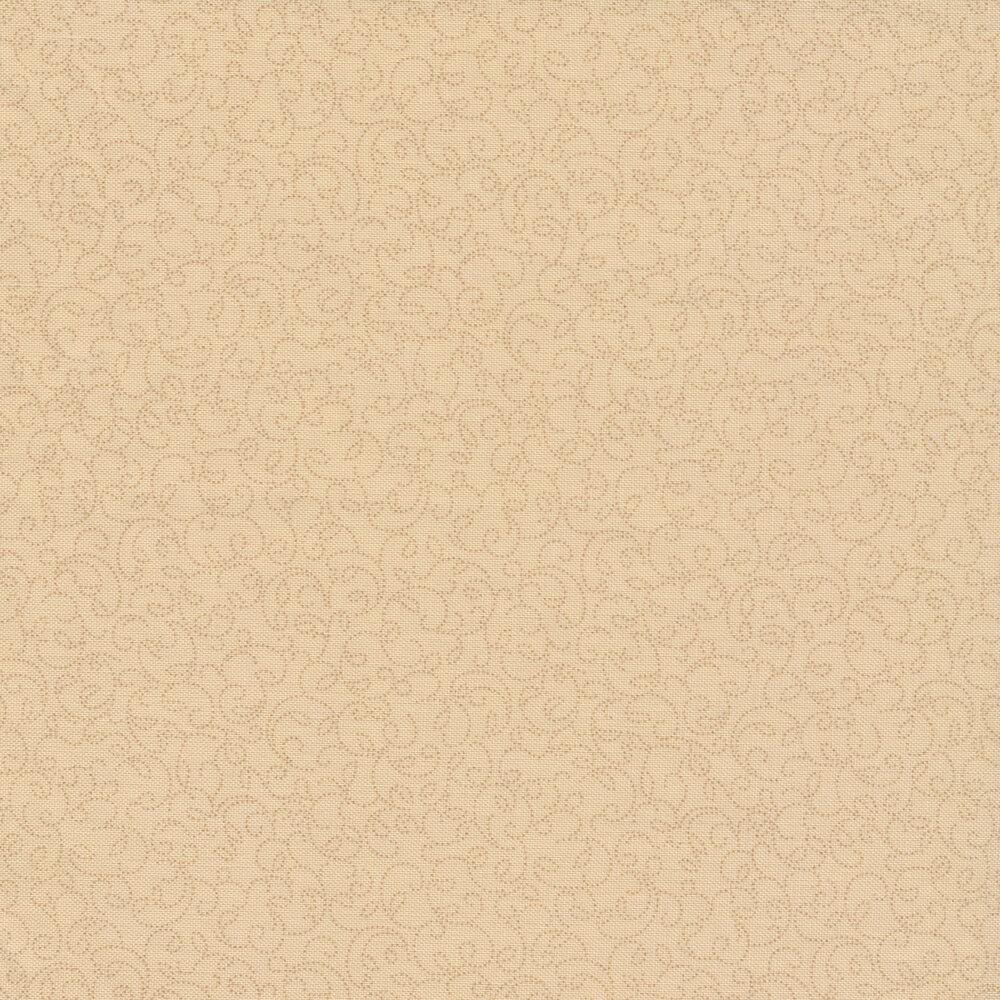 Tonal Swirls on a cream background | Shabby Fabrics