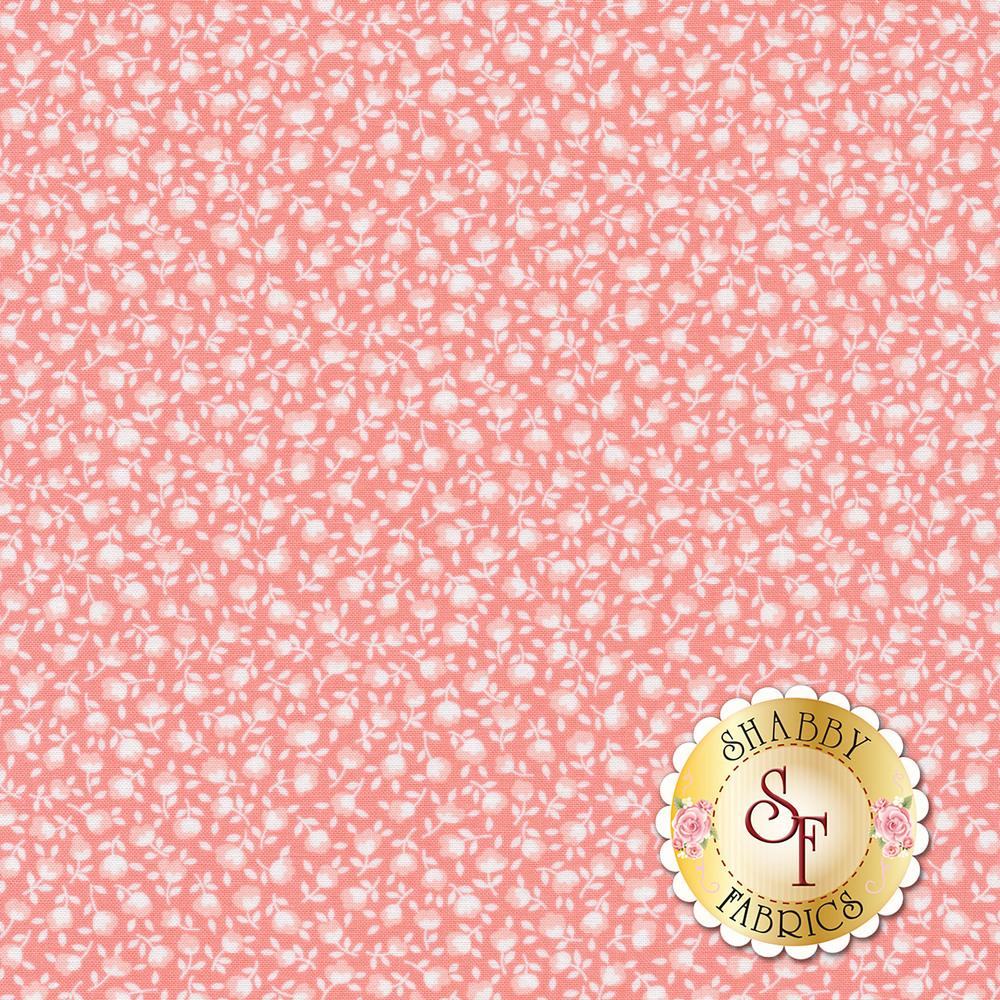 White flowers on a pink background | Shabby Fabrics