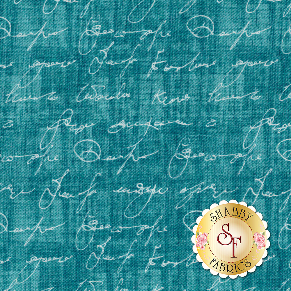 Poetry In Motion DC7922-TEAL-D by Michael Miller Fabrics