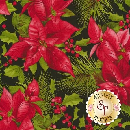 Poinsettia & Pine 9120-J for Maywood Studio