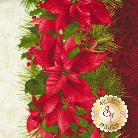 Poinsettia & Pine 9121-R for Maywood Studio