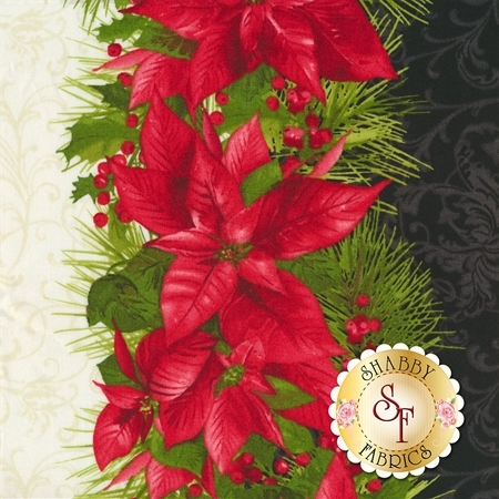 Poinsettia & Pine 9121-J for Maywood Studio