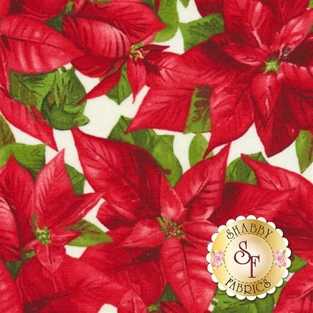Poinsettia & Pine 9122-E for Maywood Studio