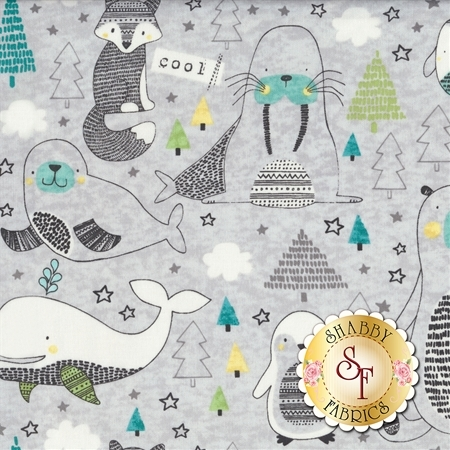 Polar Pals 21749-91 by Northcott Fabrics
