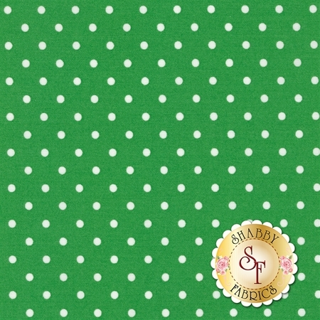 Polka Dot Basics C1820-Grass by Timeless Treasures Fabrics