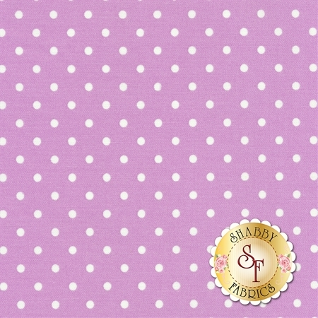 Polka Dot Basics C1820-Lilac by Timeless Treasures Fabrics