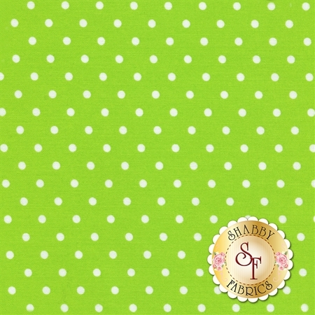 Polka Dot Basics C1820-Lime by Timeless Treasures Fabrics
