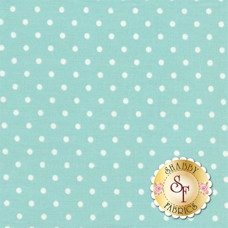 Polka Dot Basics C1820-Mint by Timeless Treasures Fabrics