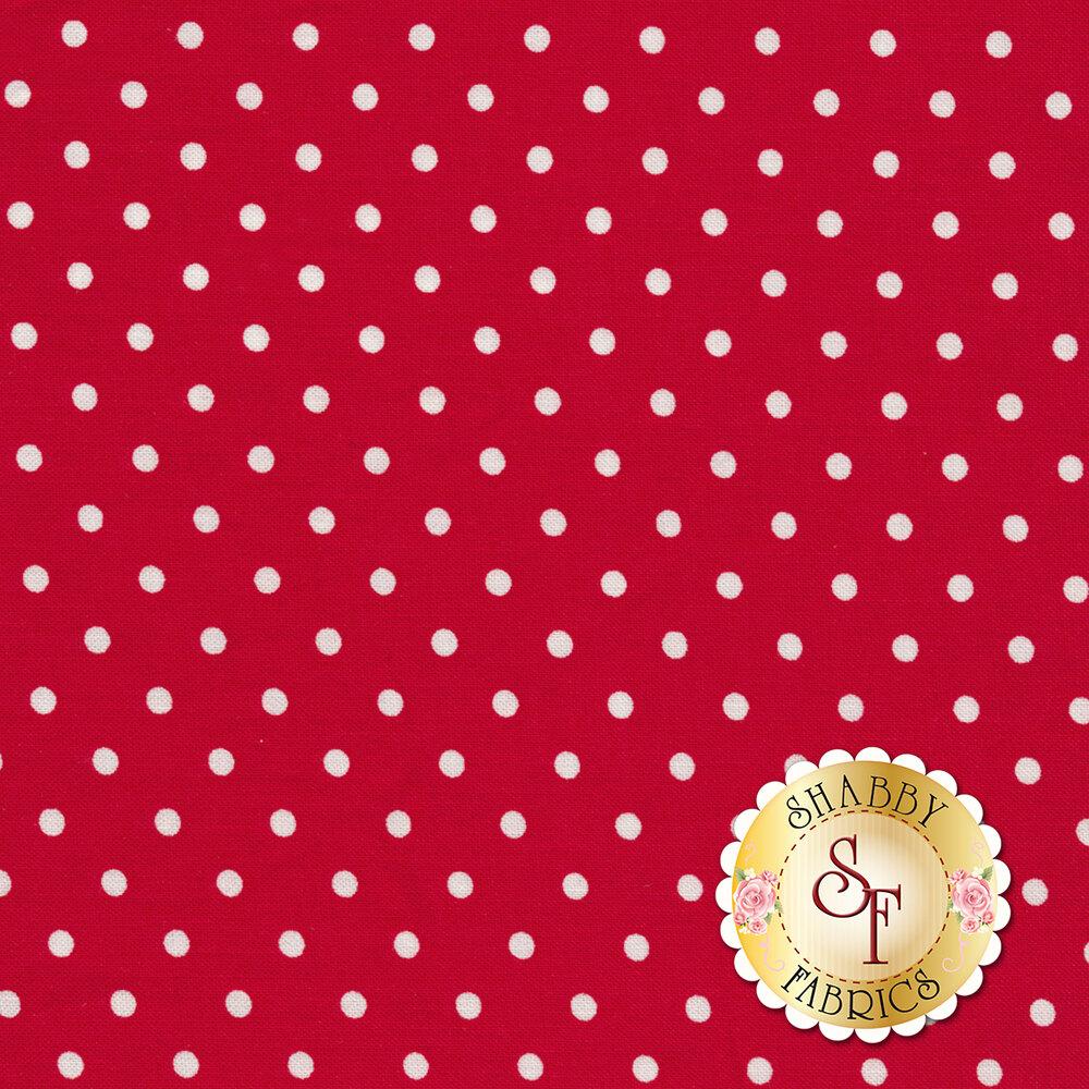 Polka Dot Basics C1820-Red by Timeless Treasures Fabrics
