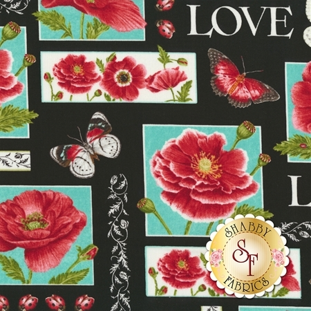 Poppy Perfection 1190-99 by Henry Glass Fabrics