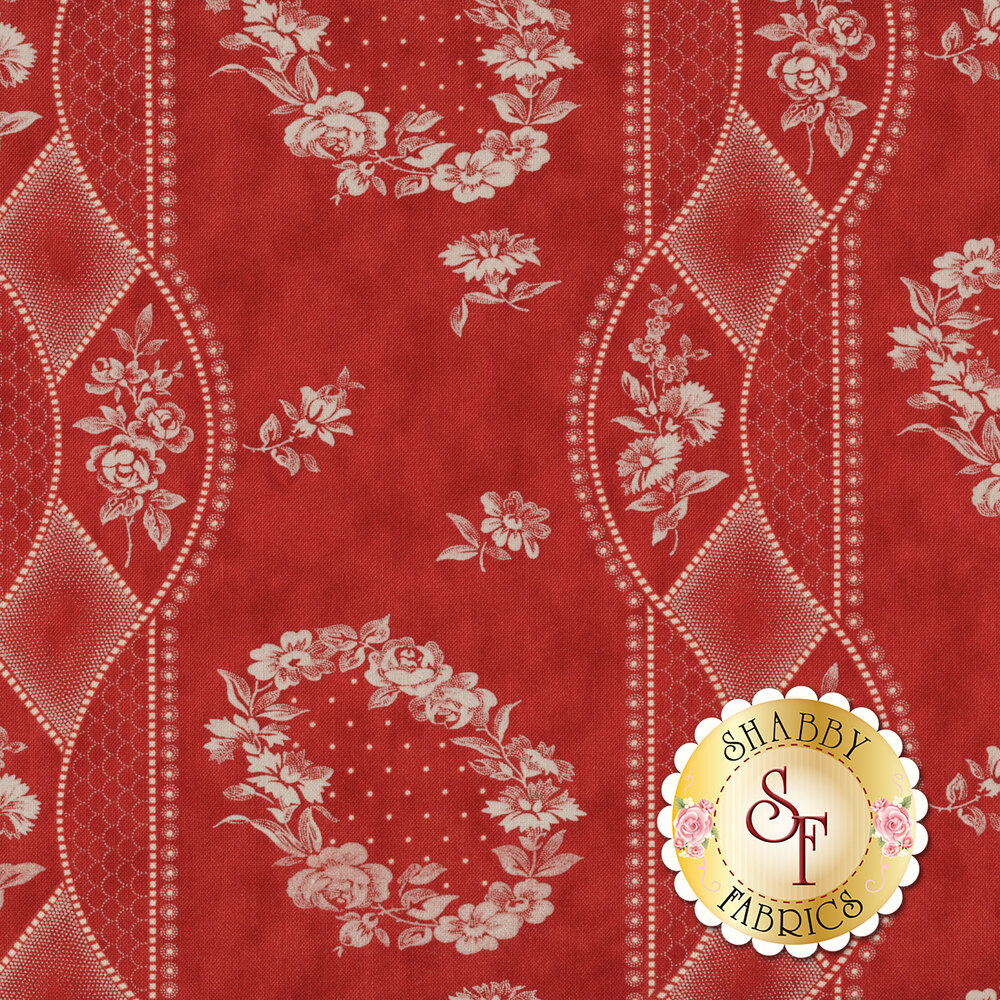 Portsmouth 14860-13 Red by Minick & Simpson for Moda Fabrics