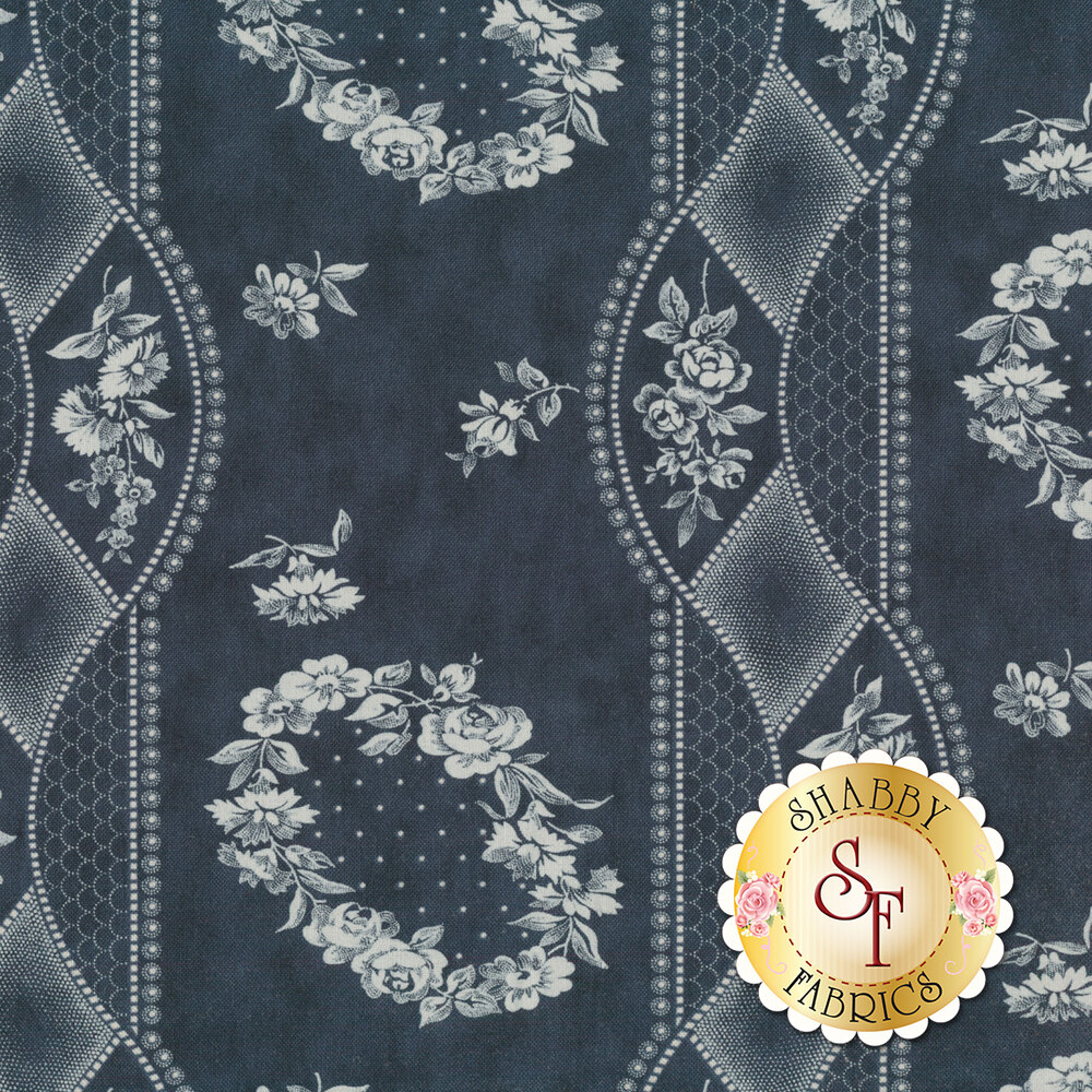 Portsmouth 14860-16 Navy by Minick & Simpson for Moda Fabrics REM