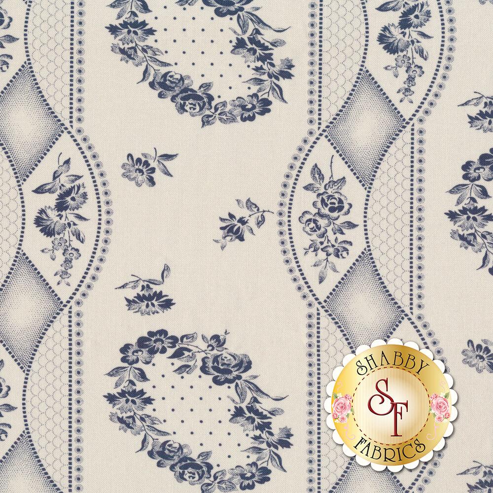 Portsmouth 14860-22 Stone Navy by Minick & Simpson for Moda Fabrics