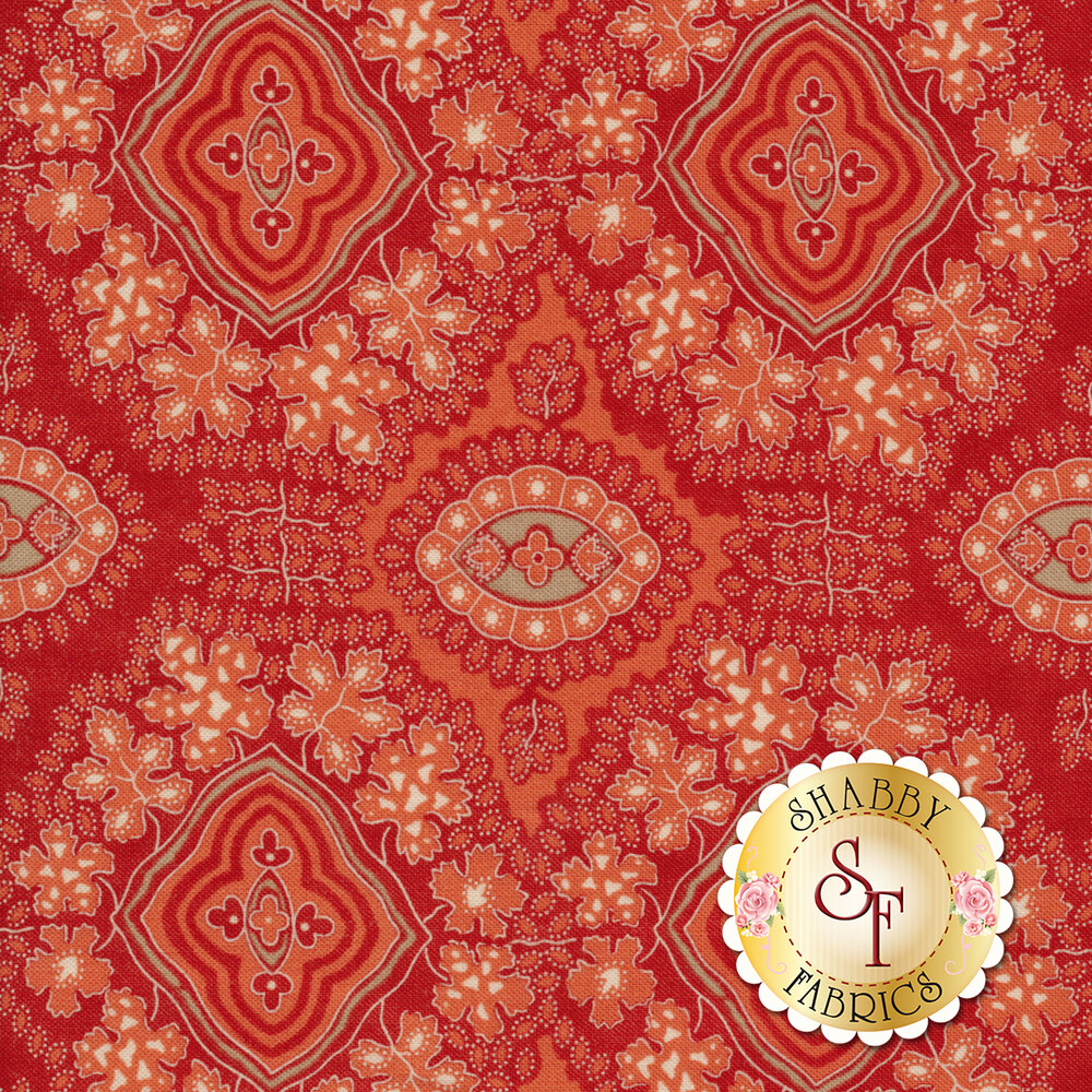 Portsmouth 14861-13 Red by Minick & Simpson for Moda Fabrics