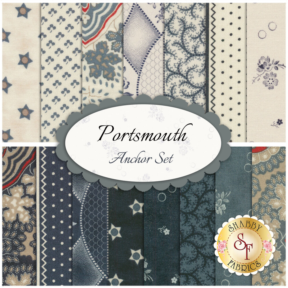 Portsmouth  15 FQ Set - Anchor Set by Minick & Simpson for Moda Fabrics