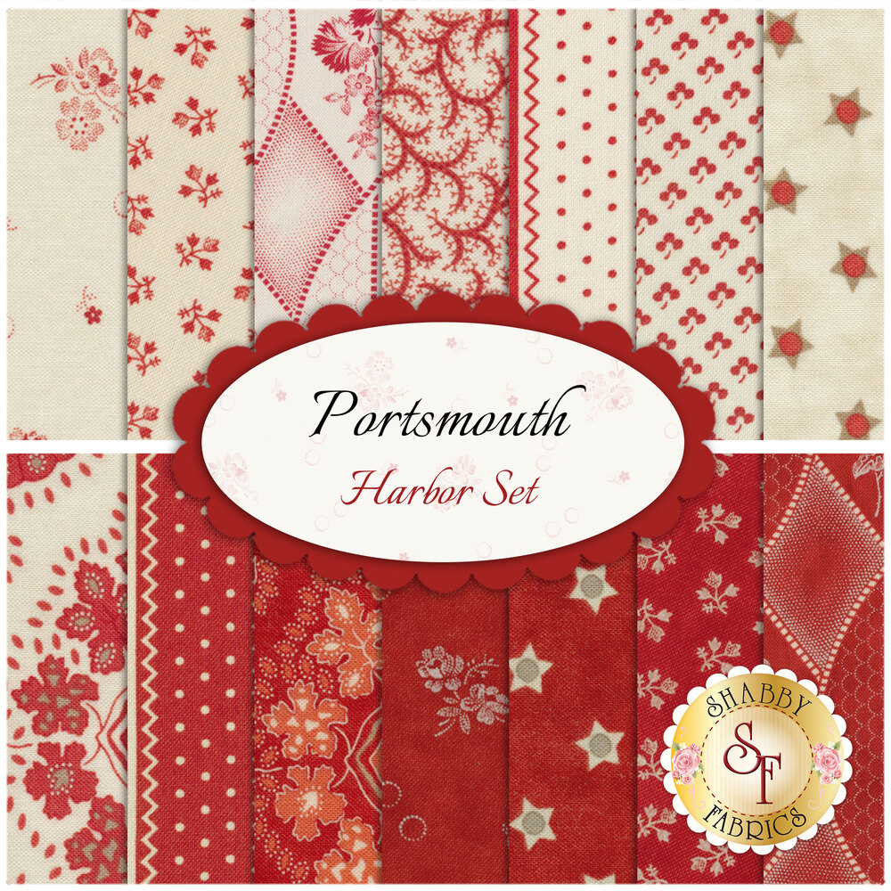 Portsmouth  14 FQ Set - Harbor Set by Minick & Simpson for Moda Fabrics