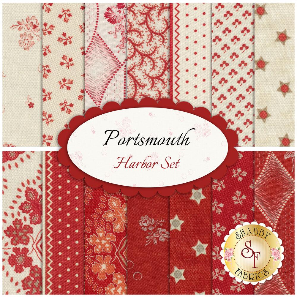 Portsmouth  14 FQ Set - Harbor Set by Minick & Simpson for Moda Fabrics