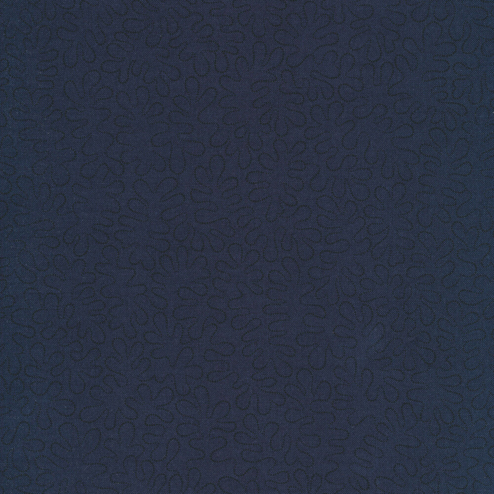 Black wavy dotted lines on a mottled dark navy background