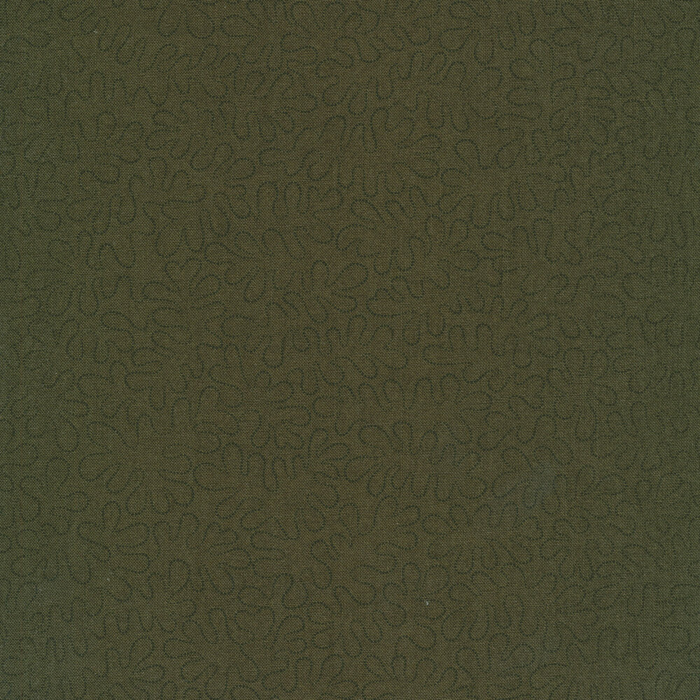 Black wavy dotted lines on a mottled dark green background