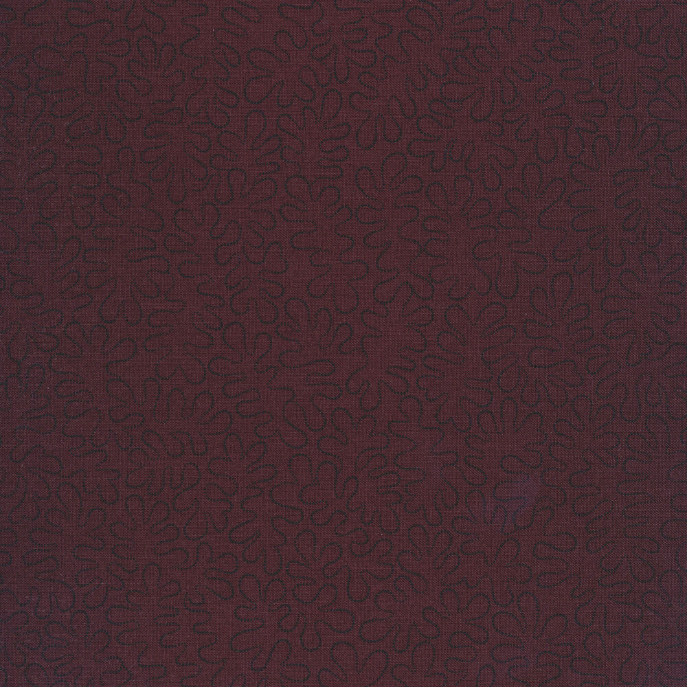 Black wavy dotted lines on a mottled dark purple background