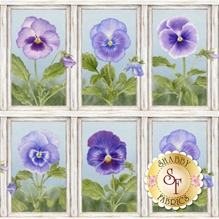 Pretty As A Pansy 1008-1 Panel by Jane Shasky of Jane's Garden for Henry Glass Fabrics