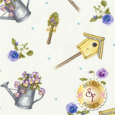 Pretty As A Pansy 1010-1 by Jane Shasky of Jane's Garden for Henry Glass Fabrics