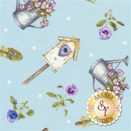 Pretty As A Pansy 1010-11 by Jane Shasky of Jane's Garden for Henry Glass Fabrics
