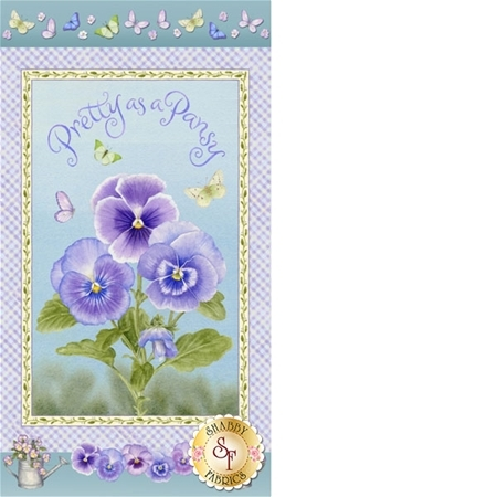 Pretty As A Pansy 1015P-15 Panel by Jane Shasky of Jane's Garden for Henry Glass Fabrics