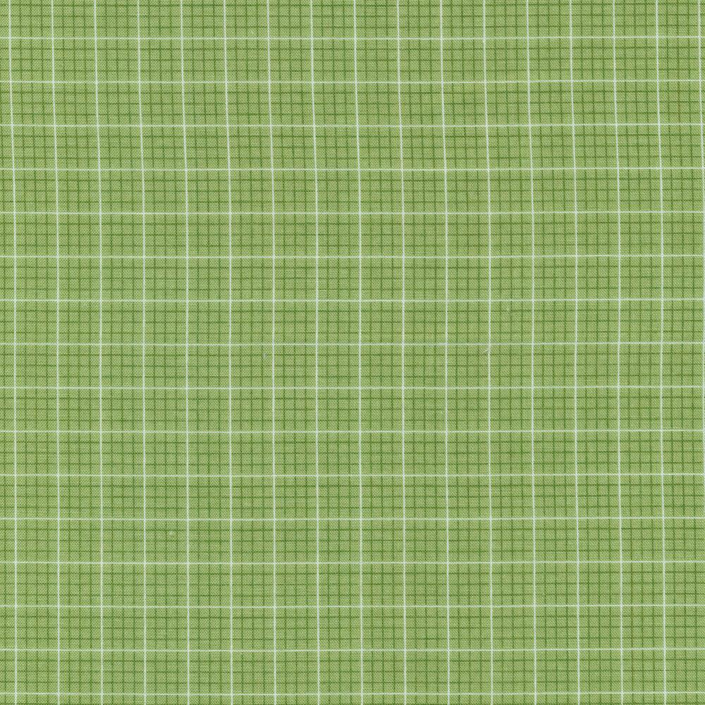 Tonal green checkered fabric | Shabby Fabrics