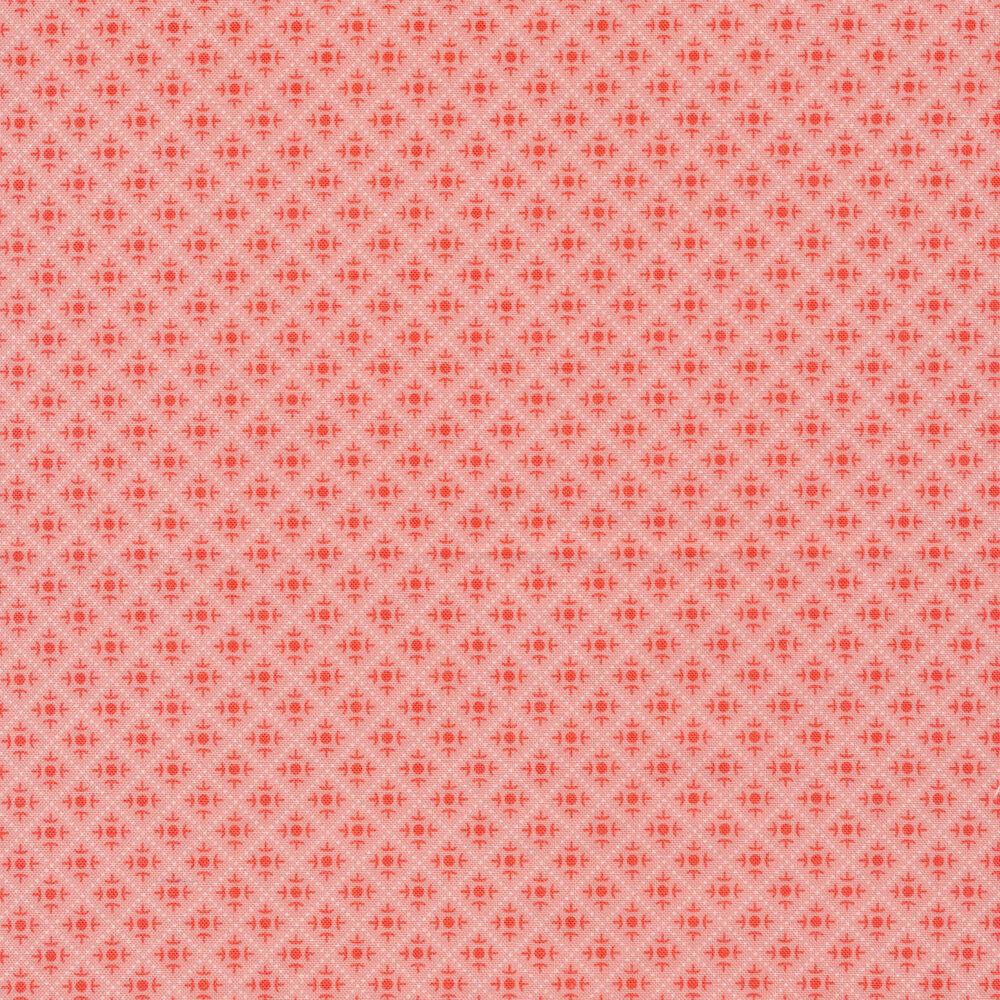 Tonal geometric designs in diamond shapes   Shabby Fabrics