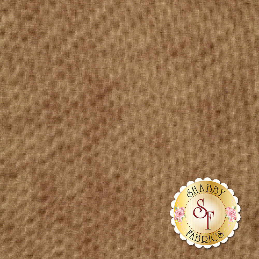 Mottled dark brown muslin fabric | Shabby Fabrics