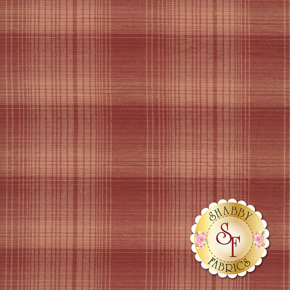Tonal red/pink plaid design | Shabby Fabrics
