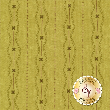 Prints Charming 17844-15 Olive by Sandy Gervais for Moda Fabrics