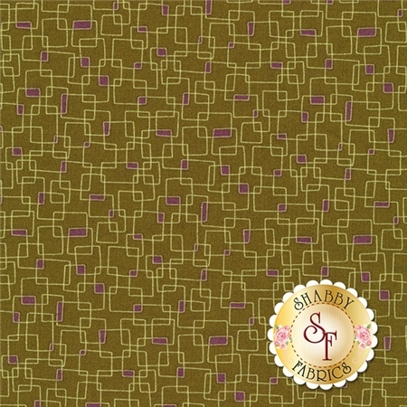 Prints Charming 17846-15 Dark Olive by Sandy Gervais for Moda Fabrics