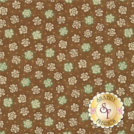 Prints Charming 17847-13 Mocha by Sandy Gervais for Moda Fabrics REM