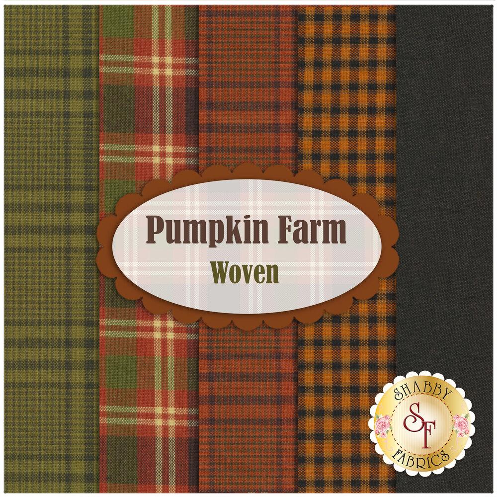 Pumpkin Farm  5 FQ Set - Woven Set by Henry Glass Fabrics