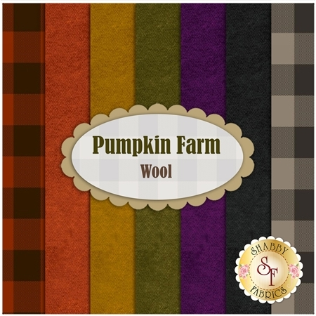 Pumpkin Farm  Wool Yardage by Stacy West for Henry Glass Fabrics