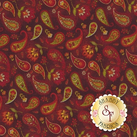Pumpkin Patch 2772-10 Country Paisley Red by Cheryl Haynes for Benartex Fabrics