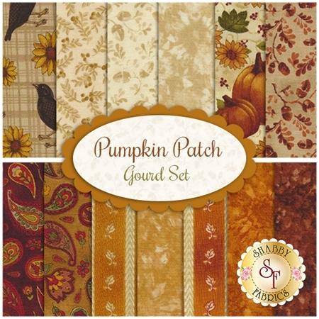 Pumpkin Patch  13 FQ Set - Gourd Set by Cheryl Haynes for Benartex Fabrics
