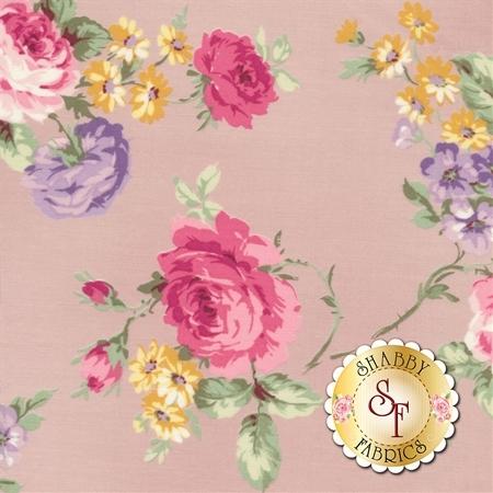 Ruru Bouquet Sweet Rose RU2330-11D by Quilt Gate Fabrics