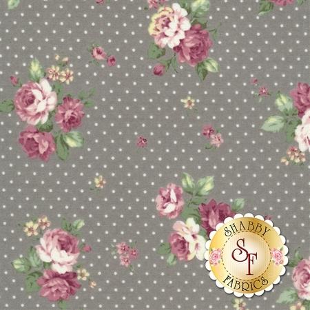 Ruru Bouquet Sweet Rose RU2330-15E by Quilt Gate Fabrics- REM