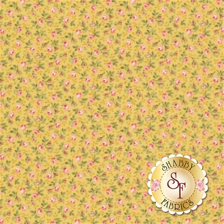 Ruru Bouquet Prima RU2260-18B by Quilt Gate Fabrics REM