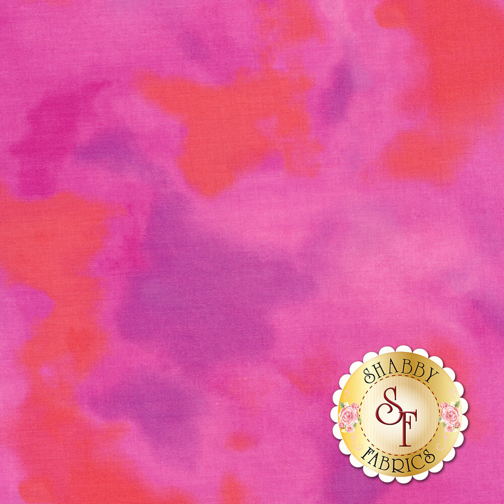 Mottled pink fabric | Shabby Fabrics