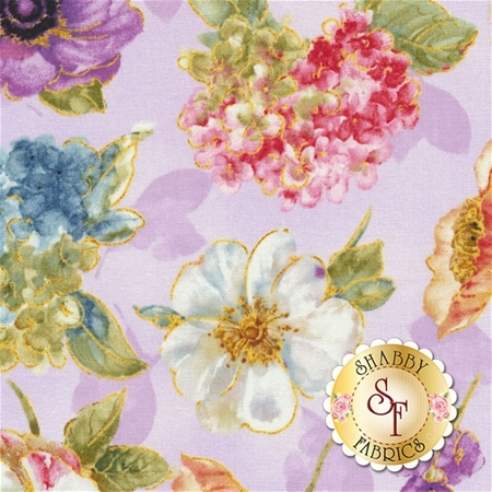 Rainbow Seeds 86419-673 Florals A/O Purple by Lisa Audit for Wilmington Prints