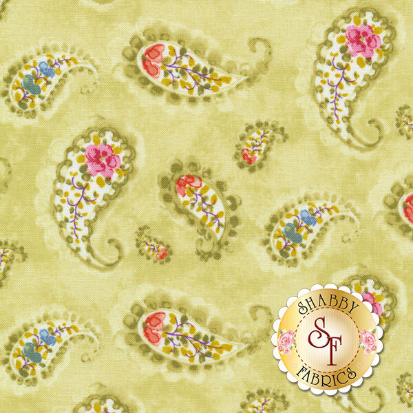 Rainbow Seeds 86421-713 Paisley Green by Lisa Audit for Wilmington Prints