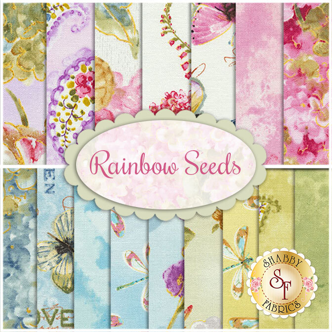 Rainbow Seeds  16 FQ Set by Lisa Audit for Wilmington Prints