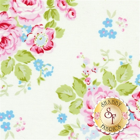 Rambling Rose PWTW129-WHIT by Tanya Whelan for Free Spirit Fabrics