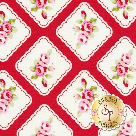 Rambling Rose PWTW130-RED by Tanya Whelan for Free Spirit Fabrics