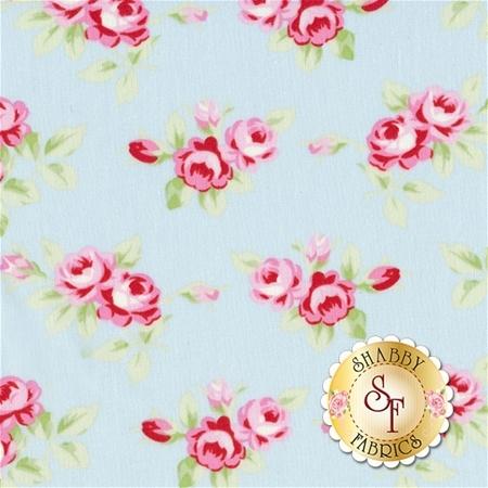 Rambling Rose PWTW131-SKY by Tanya Whelan for Free Spirit Fabrics